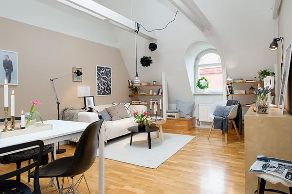 featured posts image for Charming attic apartment with cozy arrangements