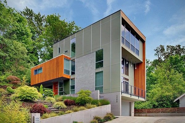 featured posts image for Modern Hillside Home in Seattle: Crane Residence