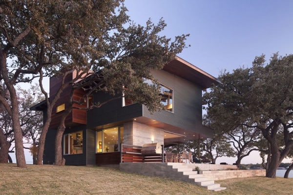 featured posts image for Stunning Lake LBJ Retreat by Dick Clark Architecture