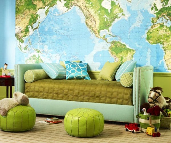 featured posts image for Decorating with maps as inexpensive wall art