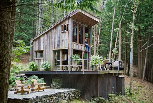 featured posts image for Off the grid New York cabin in the woods