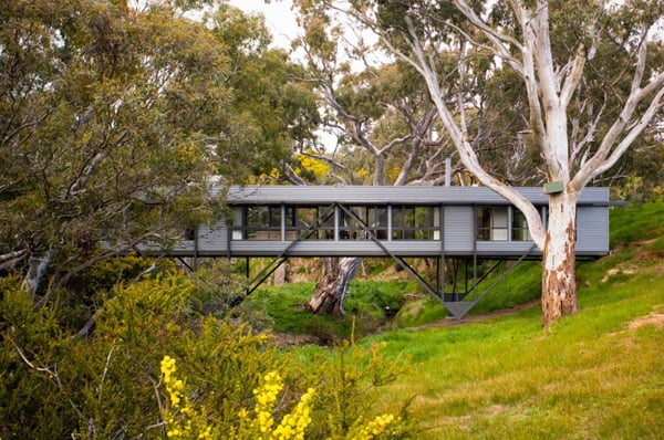 featured posts image for Bridge House suspended above a creek in Australia