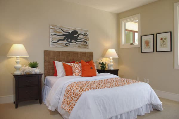 46 casual beach chic rooms to inspire for Hotel design orange