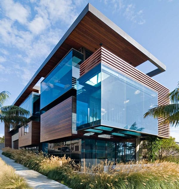 featured posts image for Modern wood and glass beach house in California