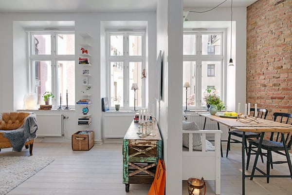 featured posts image for Lovely Scandinavian apartment with inspiring details