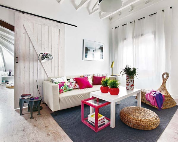 featured posts image for Bright and colorful shabby chic attic in Madrid