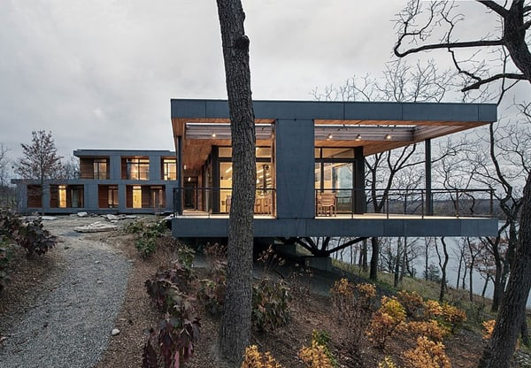 featured posts image for Modern dwelling with spectacular Hudson River views