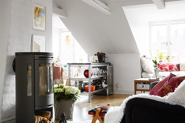 featured posts image for Swedish attic apartment displaying charming details