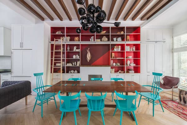 featured posts image for Bold colors defining playful Brooklyn Brownstone