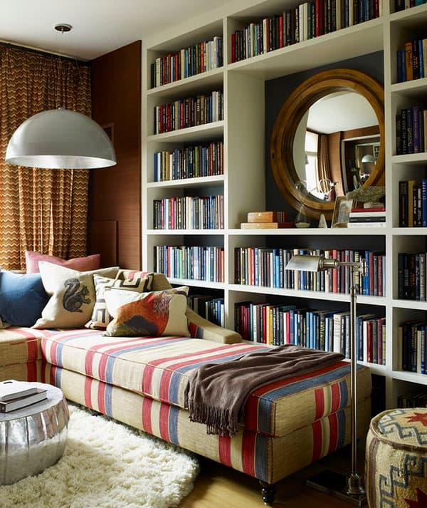 Marvelous Library Design Ideas Part - 3: Home Library Design Ideas-01-1 Kindesign