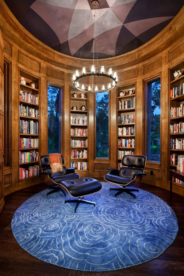 Home Library Design Ideas-11-1 Kindesign