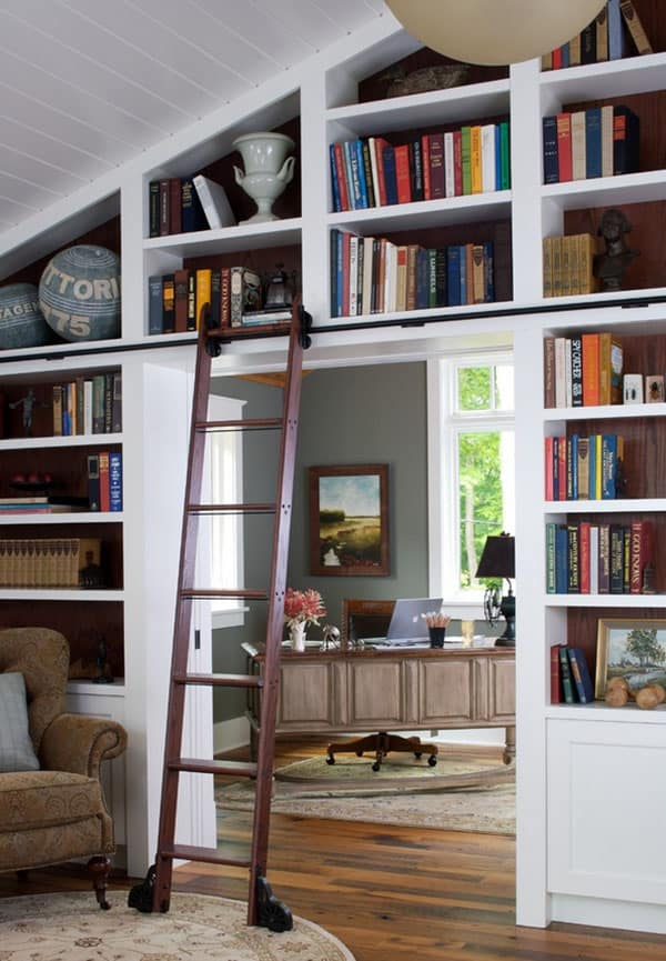 Home Library Design Ideas-31-1 Kindesign