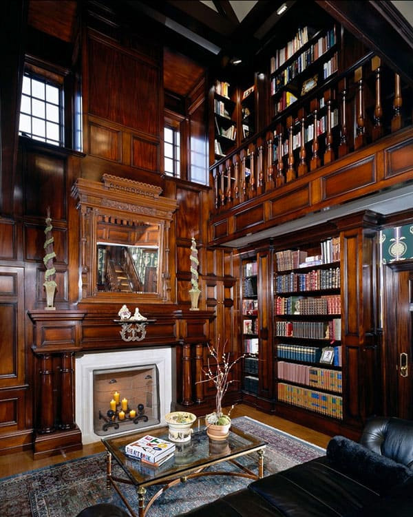 Home Library Design Ideas-36-1 Kindesign
