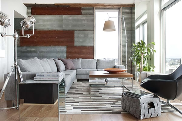 featured posts image for Urban pad mixes rustic-modern with reclaimed pieces