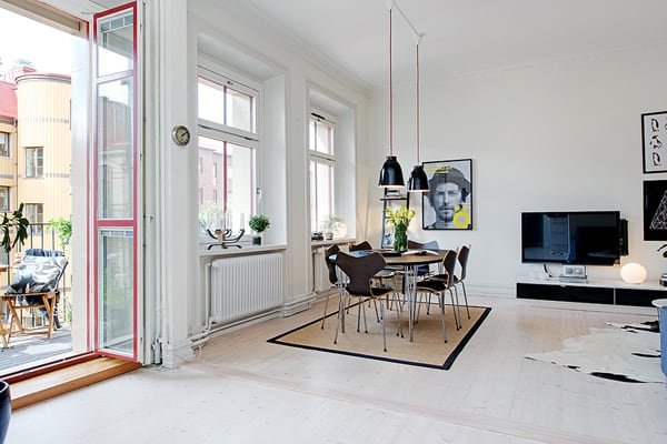 featured posts image for Cozy Gothenburg flat with charming interior details