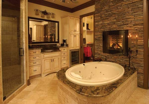 charming master bathroom fireplace | 51 Mesmerizing master bathrooms with fireplaces