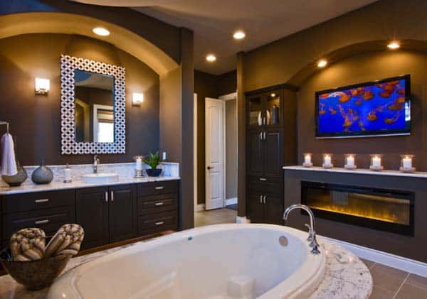 Bathroom Fireplace Ideas-03-1 Kindesign