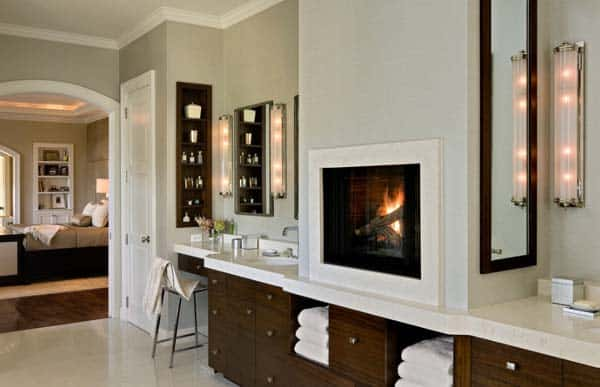 Bathroom Fireplace Ideas-08-1 Kindesign