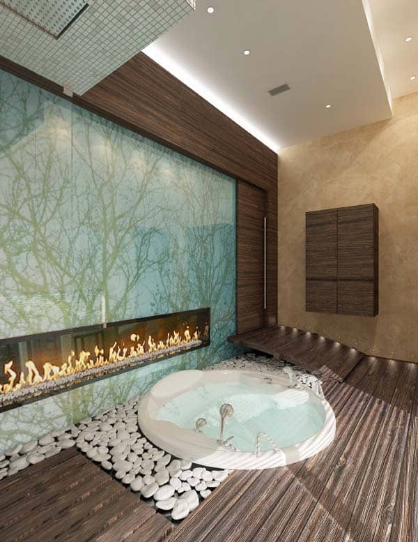 Bathroom Fireplace Ideas-12-1 Kindesign