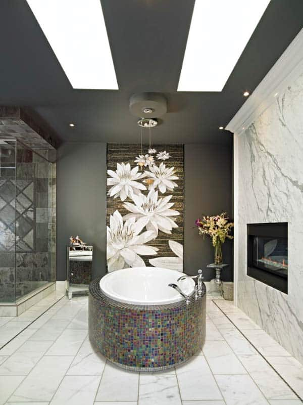 Bathroom Fireplace Ideas-13-1 Kindesign