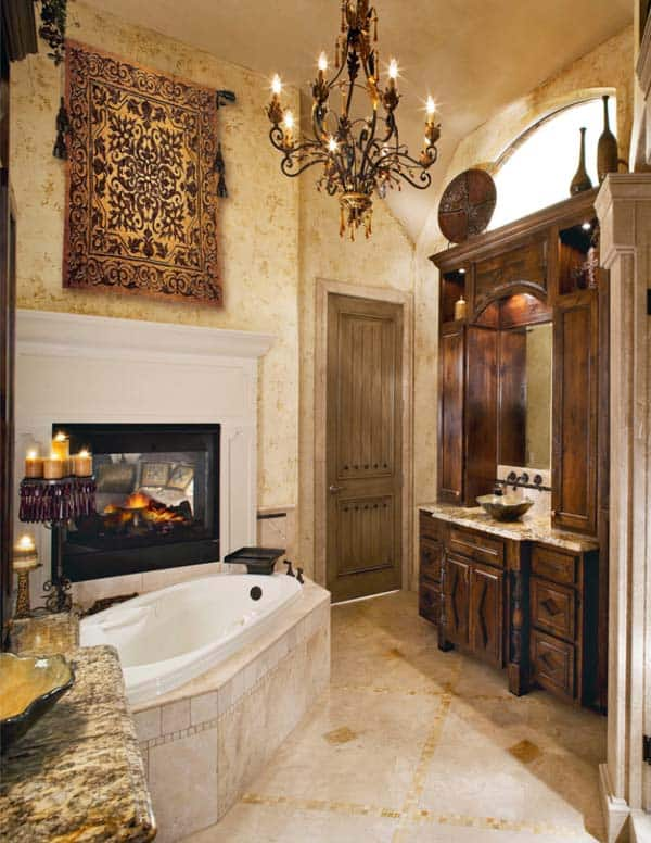 Bathroom Fireplace Ideas-17-1 Kindesign