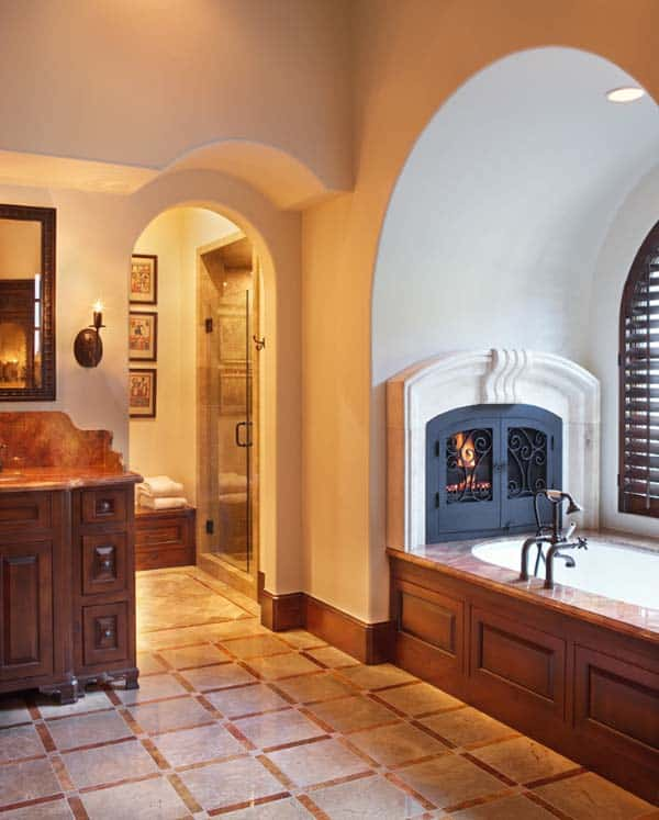 Bathroom Fireplace Ideas-19-1 Kindesign