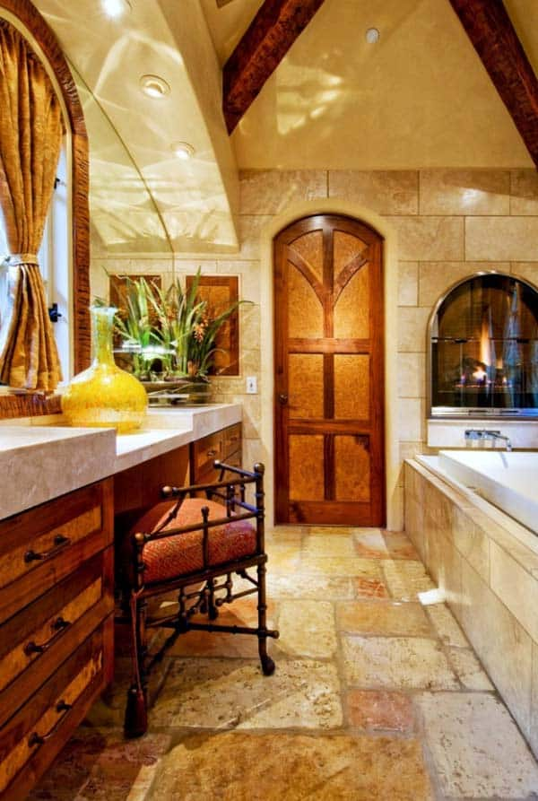 Bathroom Fireplace Ideas-20-1 Kindesign