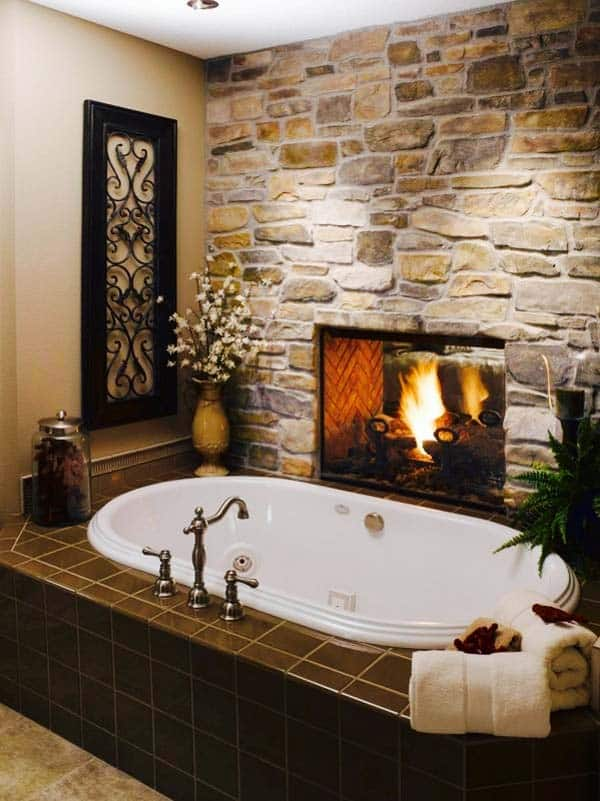 Bathroom Fireplace Ideas-22-1 Kindesign