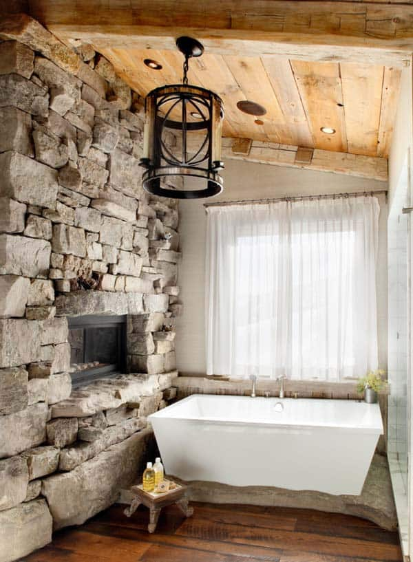 Bathroom Fireplace Ideas-31-1 Kindesign