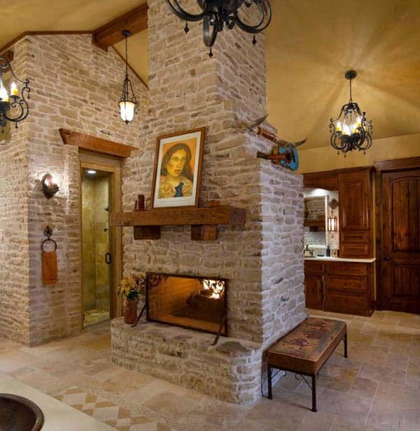 Bathroom Fireplace Ideas-35-1 Kindesign