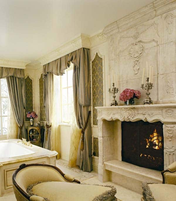 Bathroom Fireplace Ideas-40-1 Kindesign