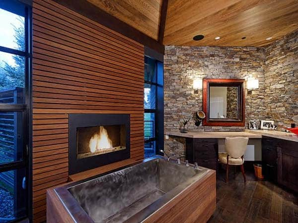 Bathroom Fireplace Ideas 45 1 Kindesign
