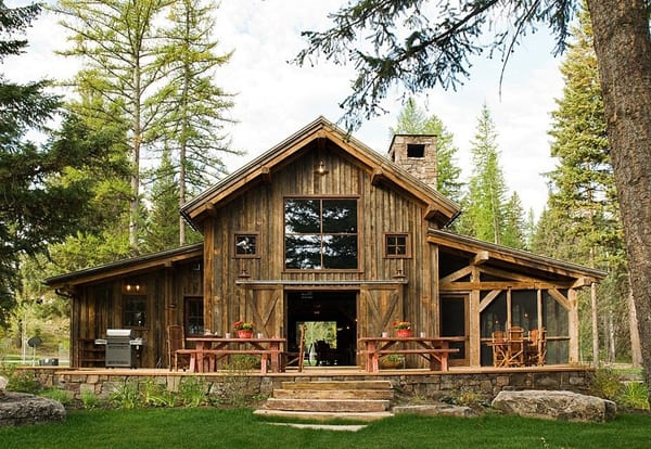 featured posts image for Rustic-modern barn in the Swan Mountain Range