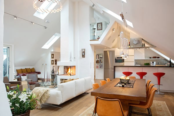 featured posts image for Tasteful duplex loft on the island of Kungsholmen
