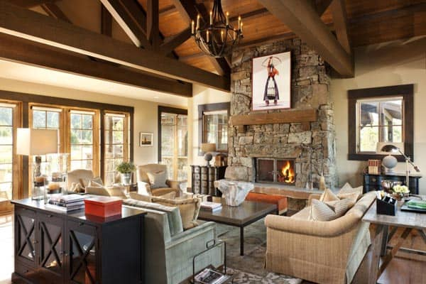featured posts image for Montana mountain home radiating with warmth