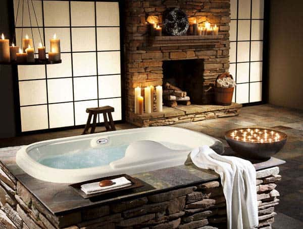 Bathroom Fireplace Ideas-046-1 Kindesign