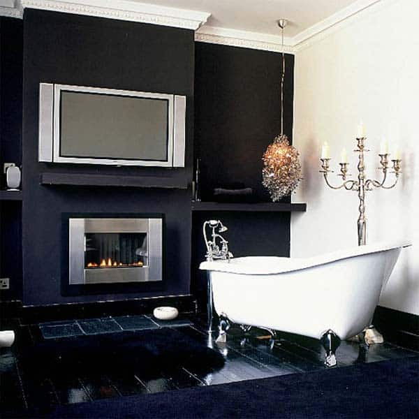 Bathroom Fireplace Ideas-050-1 Kindesign