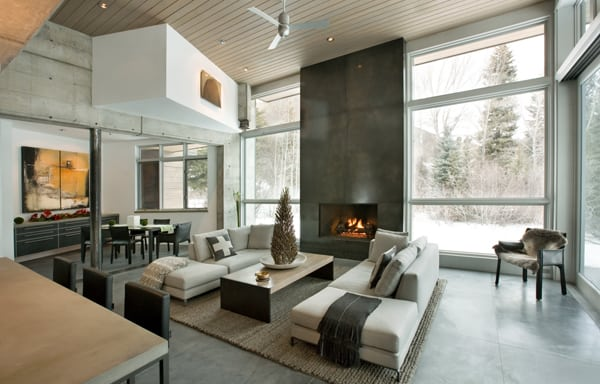 featured posts image for Fabulous concrete mountain retreat in Snowmass