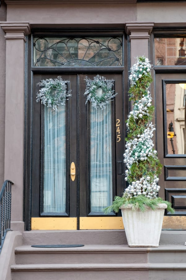 christmas porch decorating ideas 29 1 kindesign - Front Door Entrance Christmas Decoration