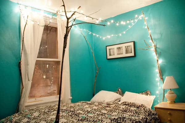 featured posts image for 66 Inspiring ideas for Christmas lights in the bedroom