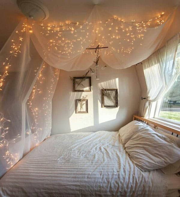 40 Inspiring Ideas For Christmas Lights In The Bedroom Magnificent Lights In The Bedroom