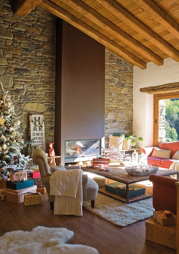 featured posts image for Old farmhouse with Nordic Christmas spirit in France