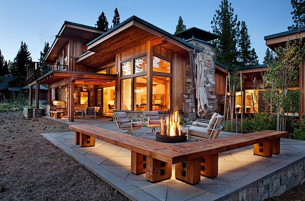 featured posts image for Rustic mid-century home with spectacular mountain views