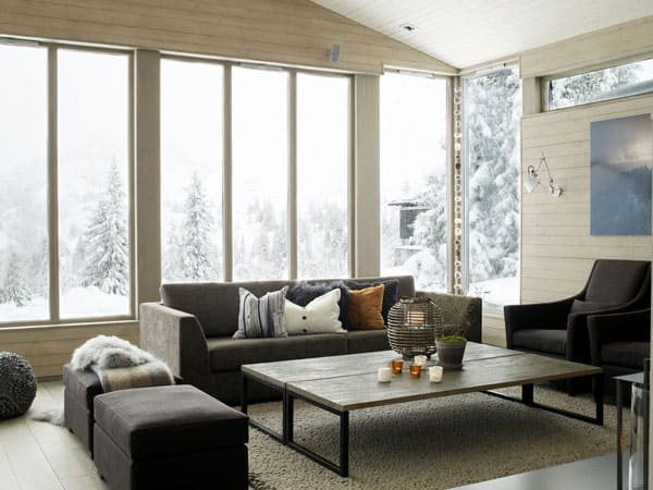 featured posts image for 54 Cozy living spaces with expansive snowy views