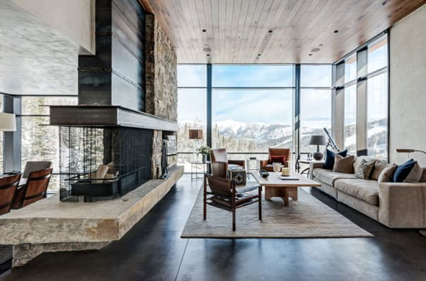 Living Spaces with Snowy Views-05-1 Kindesign