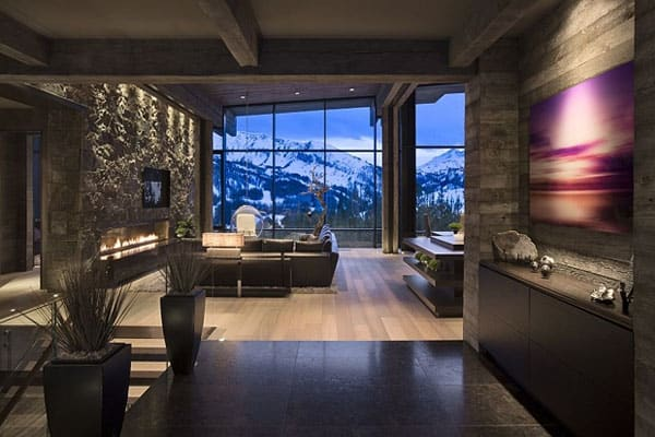 Living Spaces with Snowy Views-20-1 Kindesign