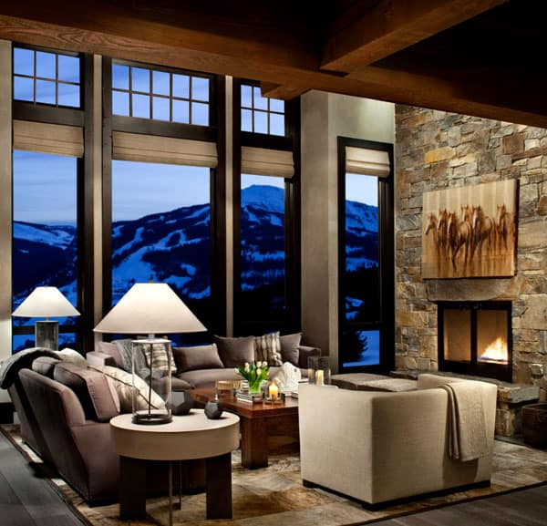 Living Spaces with Snowy Views-21-1 Kindesign