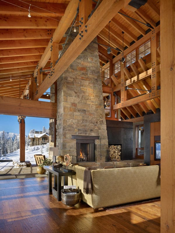 Living Spaces with Snowy Views-28-1 Kindesign