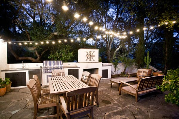 52 spectacular outdoor string lights to illuminate your patio outdoor patio string lights 21 1 kindesign aloadofball Gallery