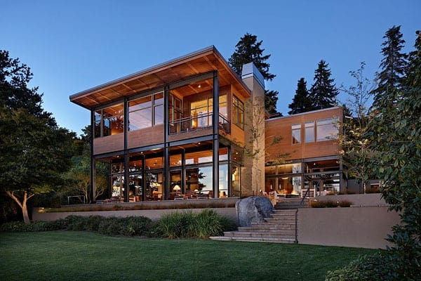featured posts image for Modern lake house blurring indoor/outdoor boundaries